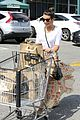lea michele sheer grocery run cory monteith striped office meeting 32