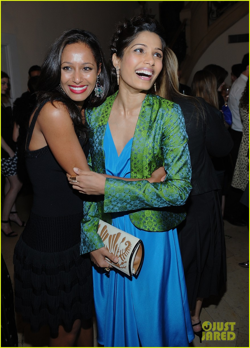 freida pinto maiyet varanasi silk capsule collection dinner 062867684