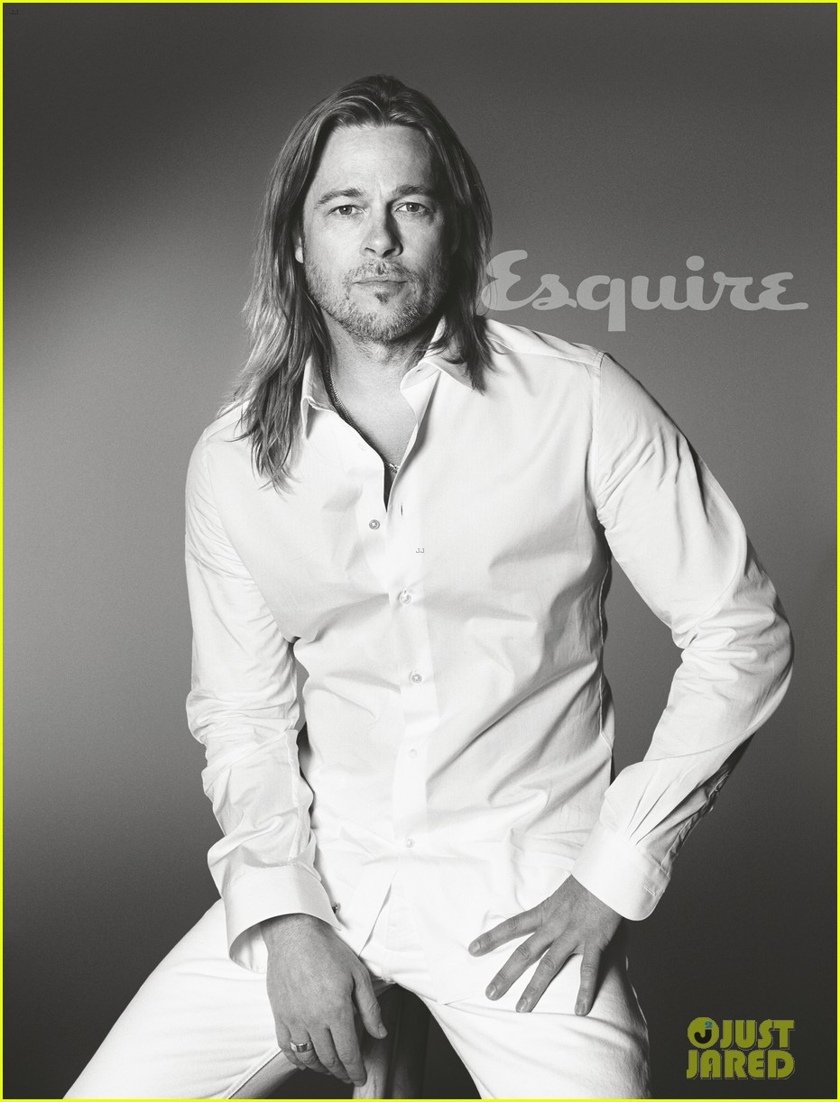 brad pitt to esquire i havent known life to be any happier 01