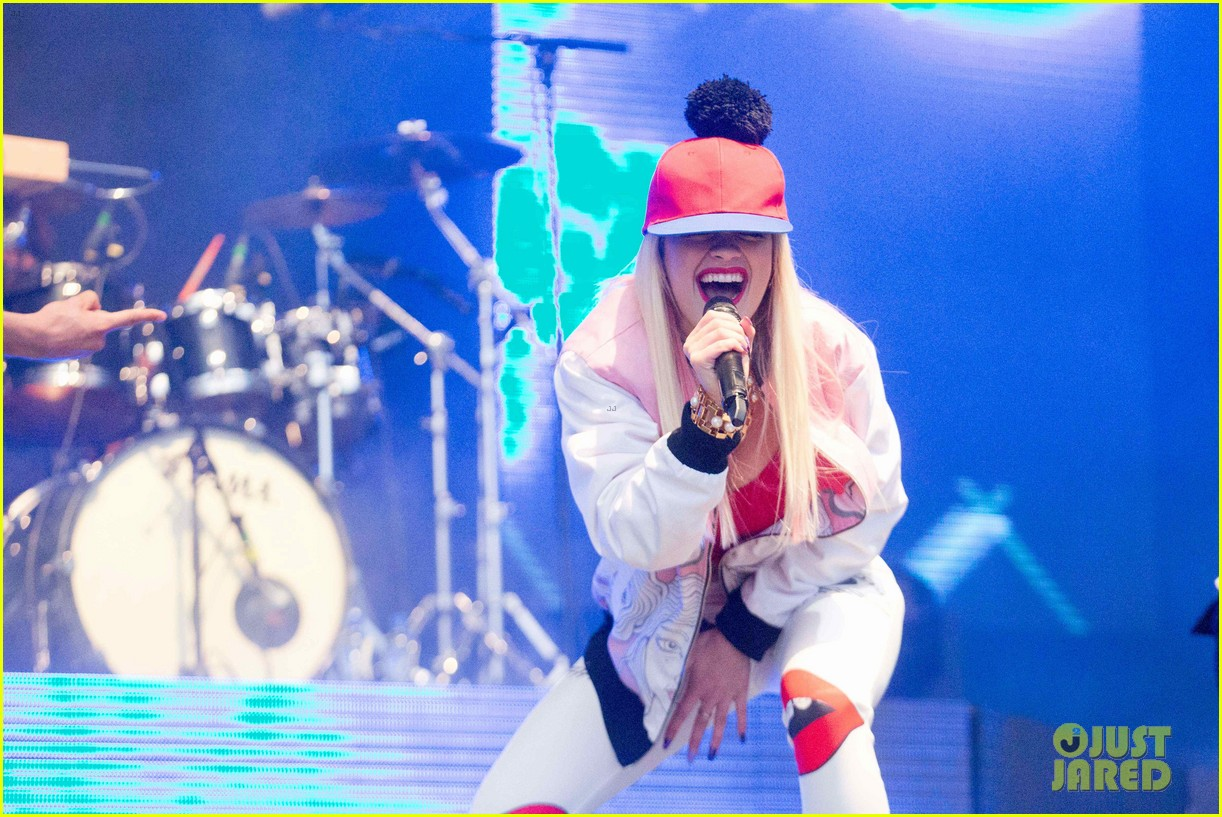 rita ora performs at as one in the park music festival 31