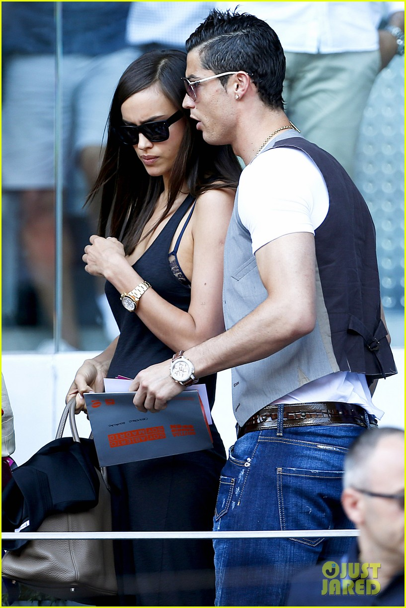 cristiano ronaldo irina shayk madrid open game after xti event 112867898