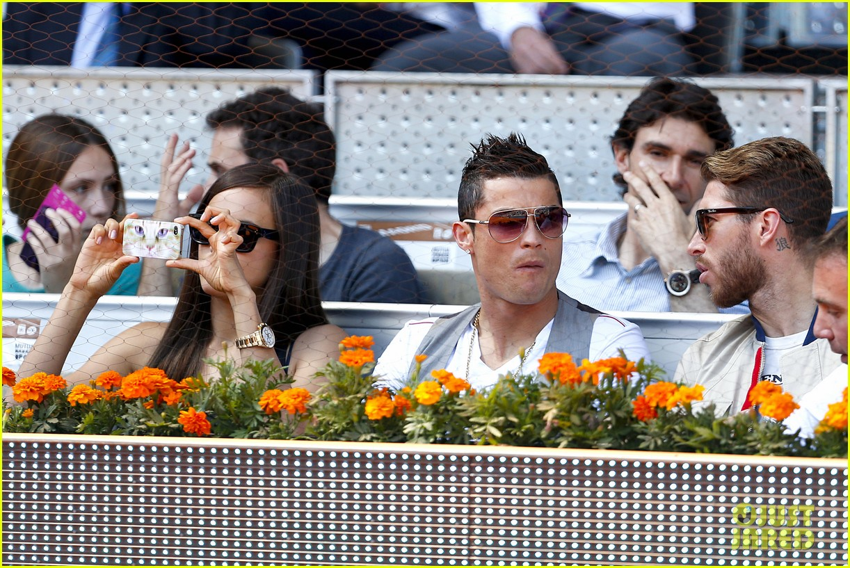 cristiano ronaldo irina shayk madrid open game after xti event 24