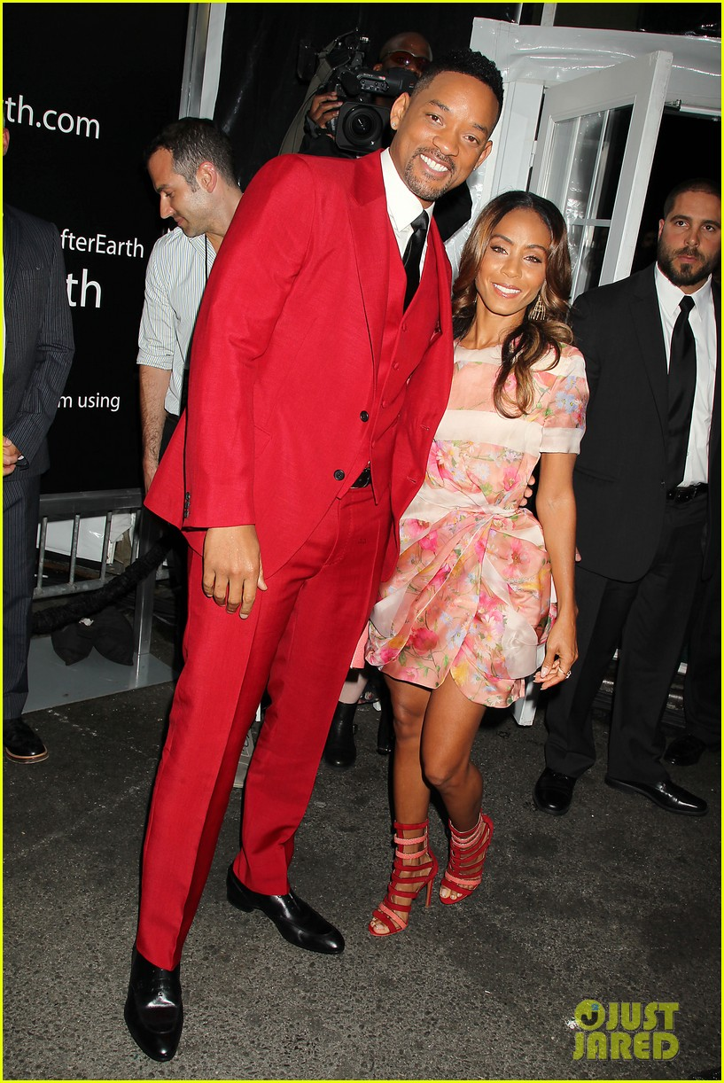jada will smith after earth premiere with willow jada trey 262880287