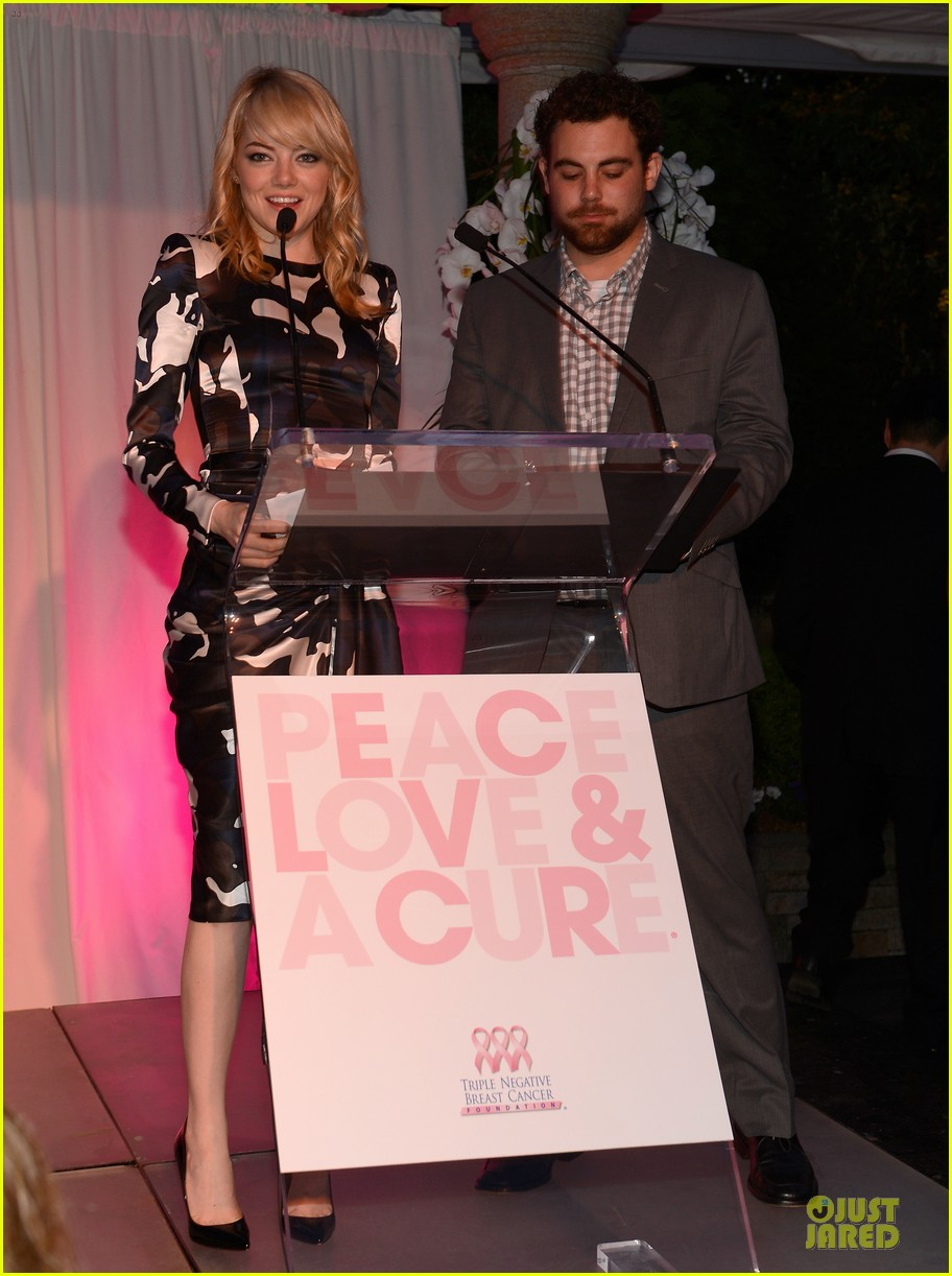 emma stone andrew garfield triple negative breast cancer foundation benefit 172875898