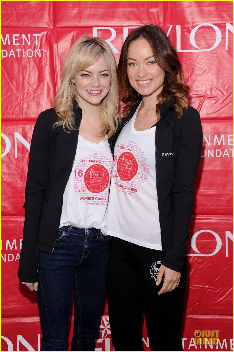 emma stone olivia wilde eif revlon run walk for women hosts 022863430