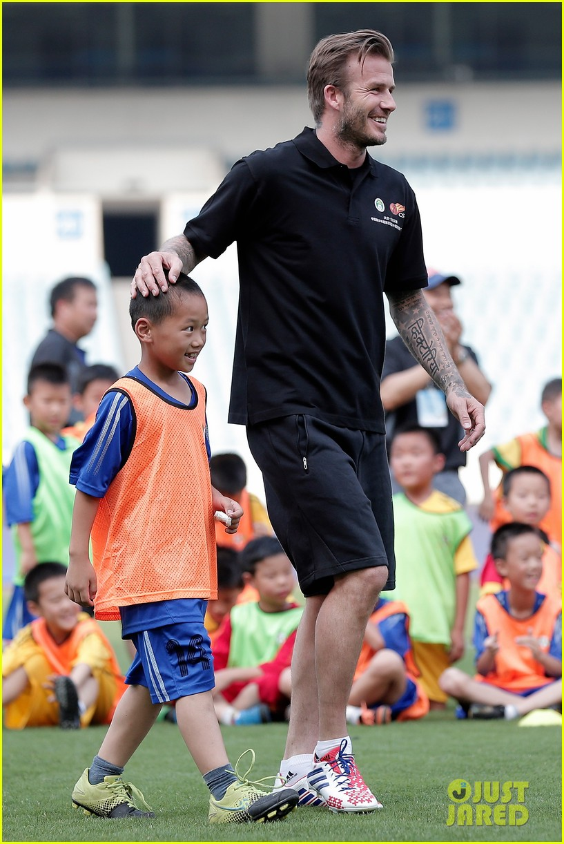 david beckham visits china 28