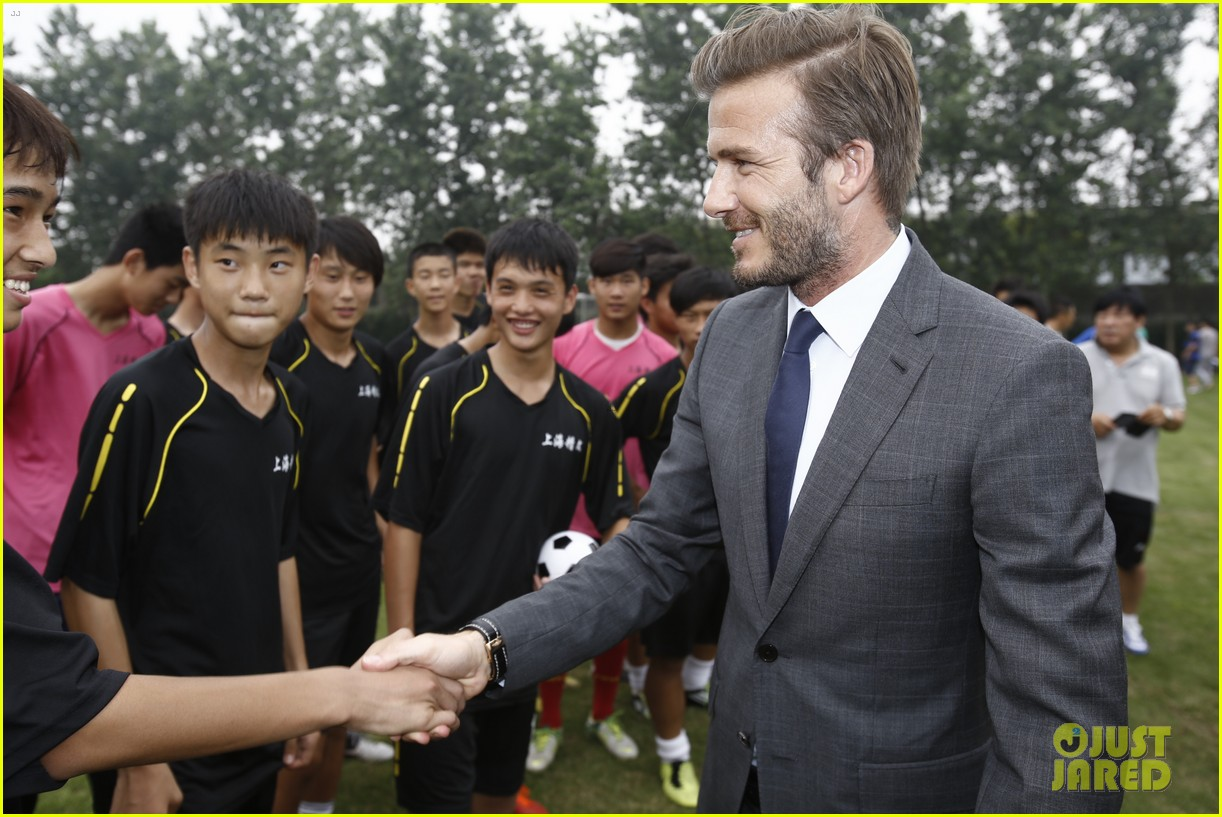 david beckham third day of china visit 09