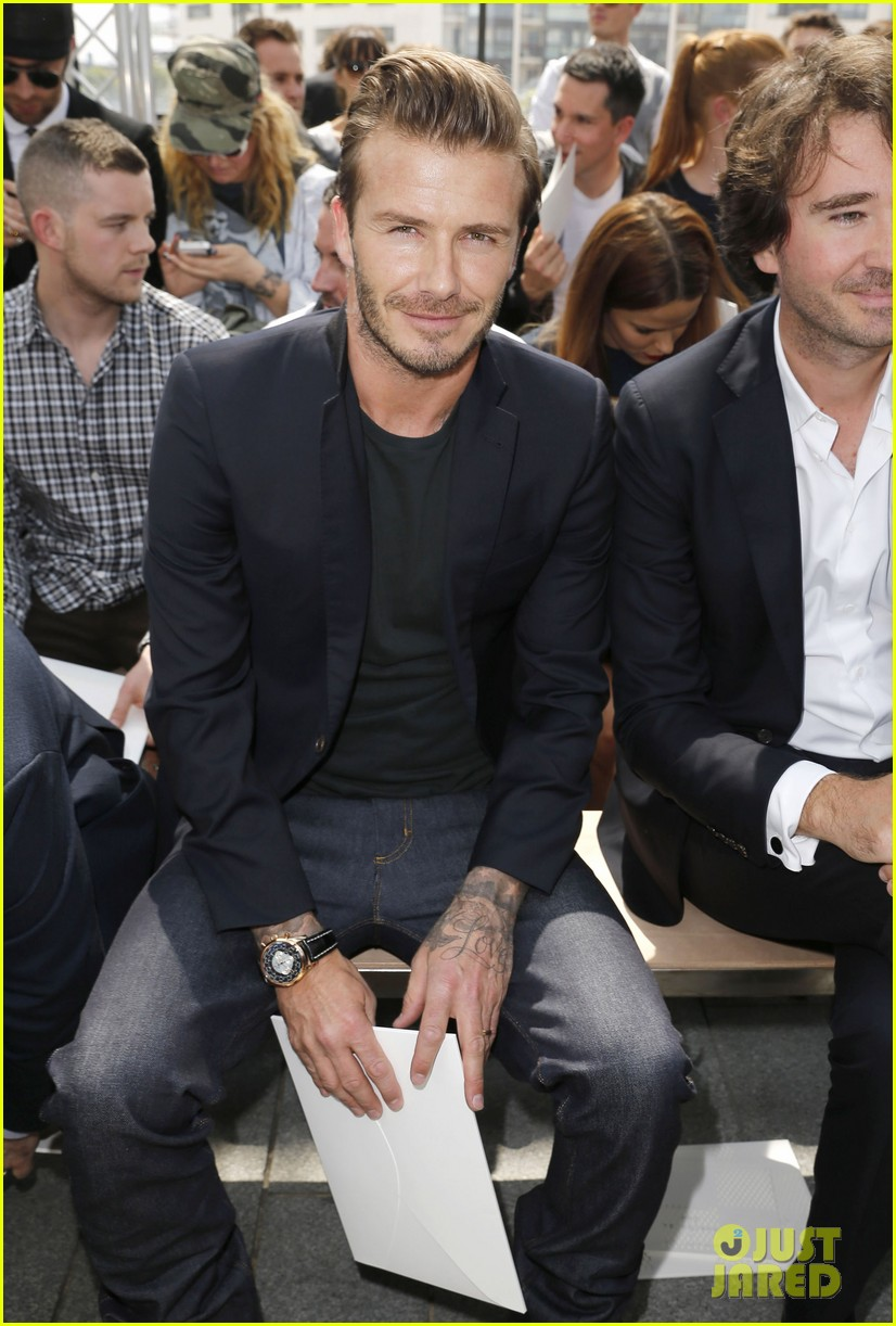 david beckham louis vuitton fashion show with marc jacobs 11
