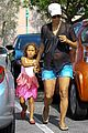 pregnant halle berry sheer top at bristol farms with nahla 03