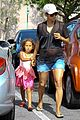 pregnant halle berry sheer top at bristol farms with nahla 07