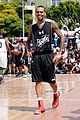 chris brown plays basketball at the bet experience fan fest 20