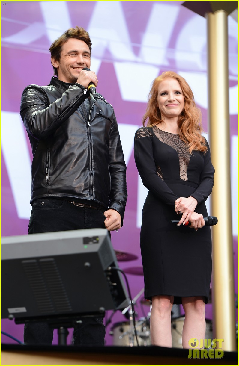 jessica chastain james franco chime for change concert 032882053