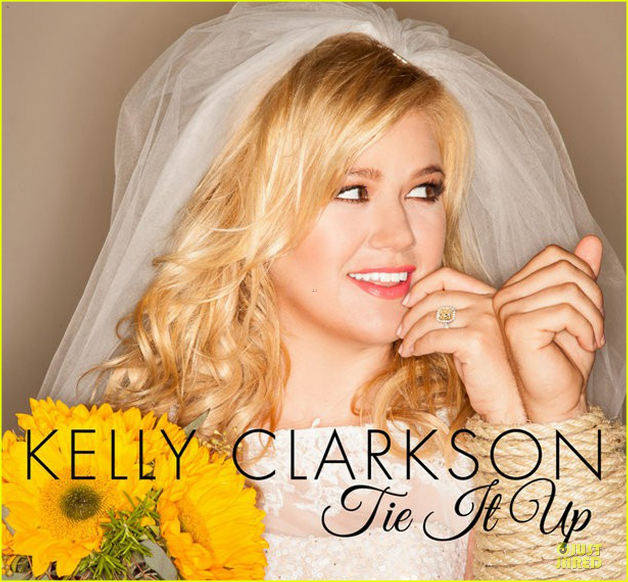 kelly clarkson tie it up cover art for new single