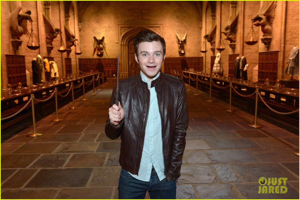 chris colfer harry potter studio tour in london 09