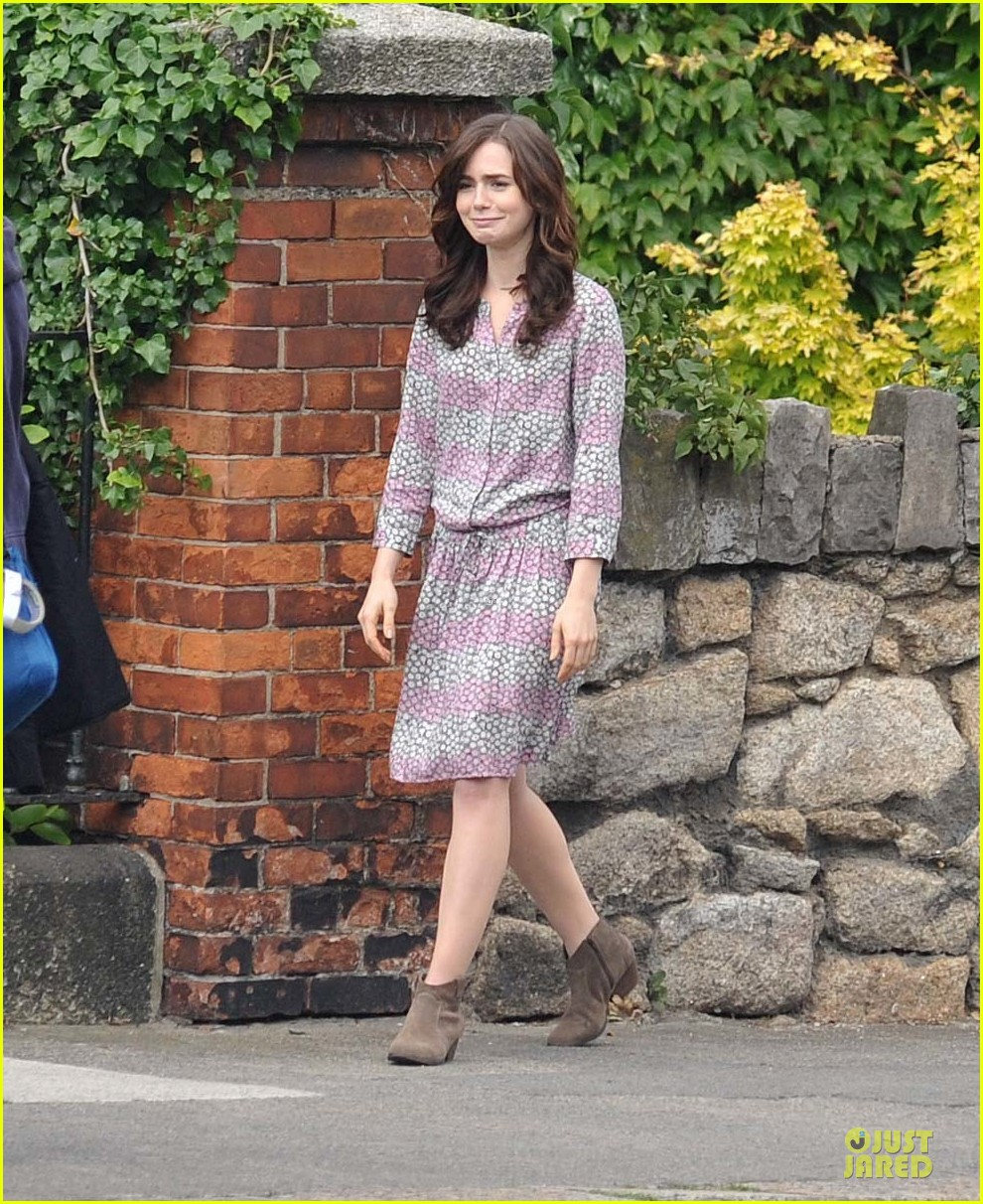 Lily Collins: 'Love, Rosie' Airport Scene with Jaime