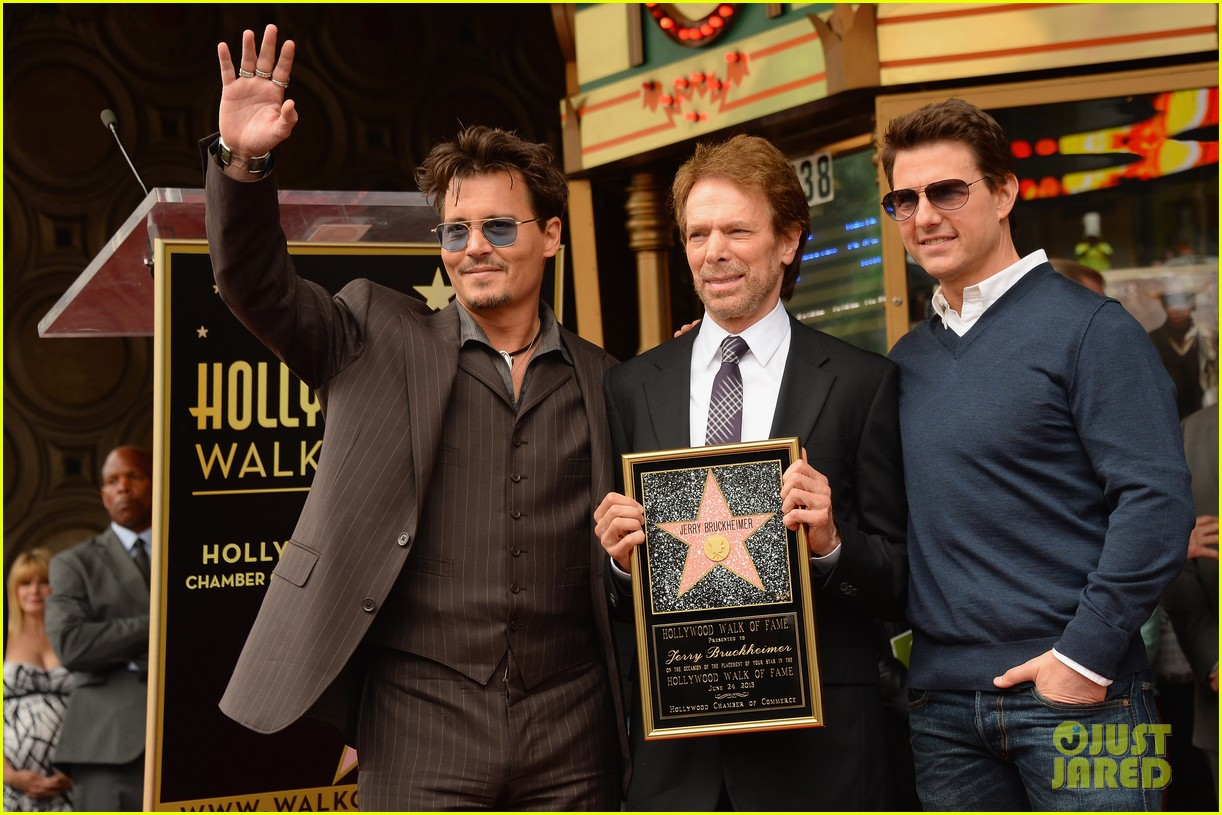 tom cruise johnny depp jerry bruckheimer star ceremony 182897718