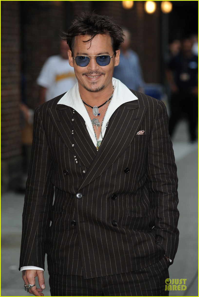 johnny depp lone ranger promotion on letterman 03