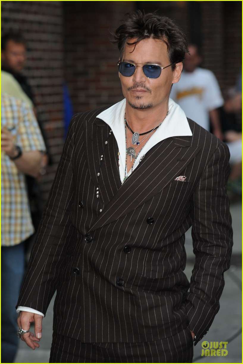 johnny depp lone ranger promotion on letterman 122898527