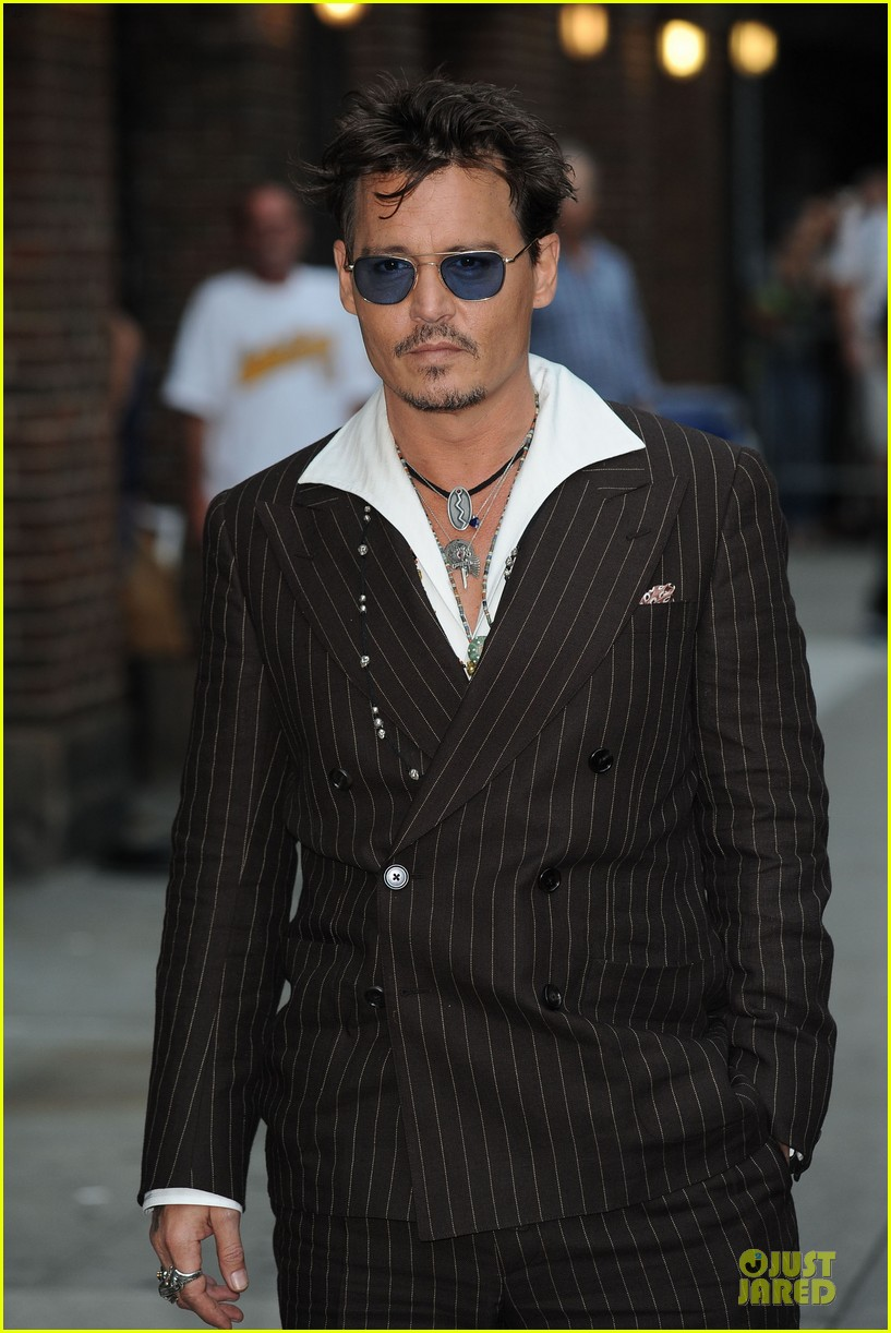 johnny depp lone ranger promotion on letterman 13