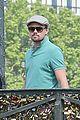 leonardo dicaprio visits famous love locks in paris 02