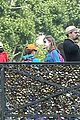 leonardo dicaprio visits famous love locks in paris 23