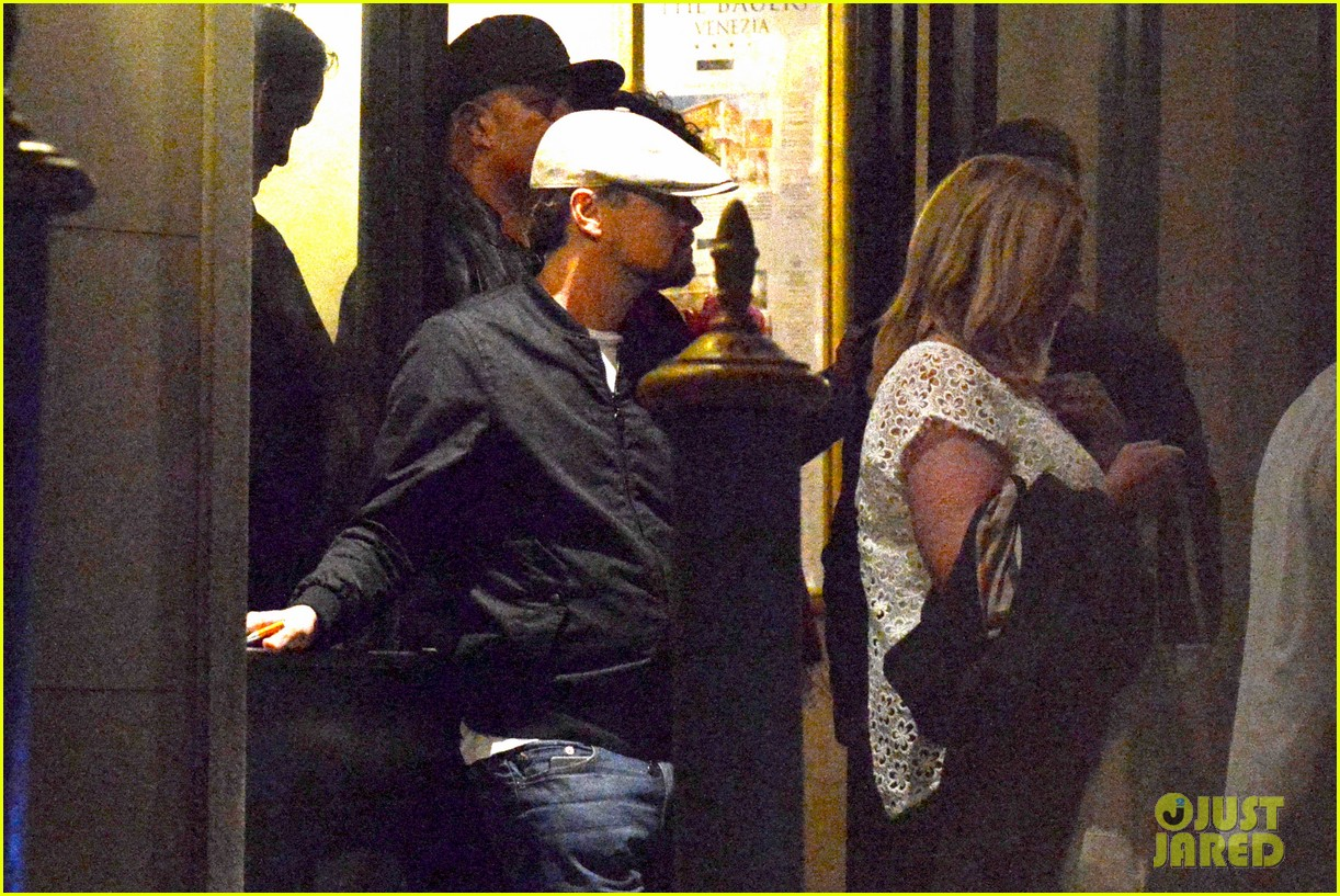 leonardo dicaprio venice night out with mom irmelin 122882274