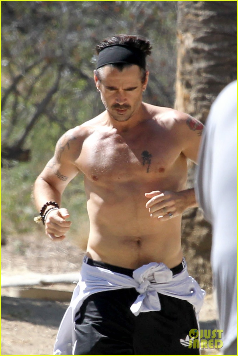 colin farrell shirtless run in hollywood 21