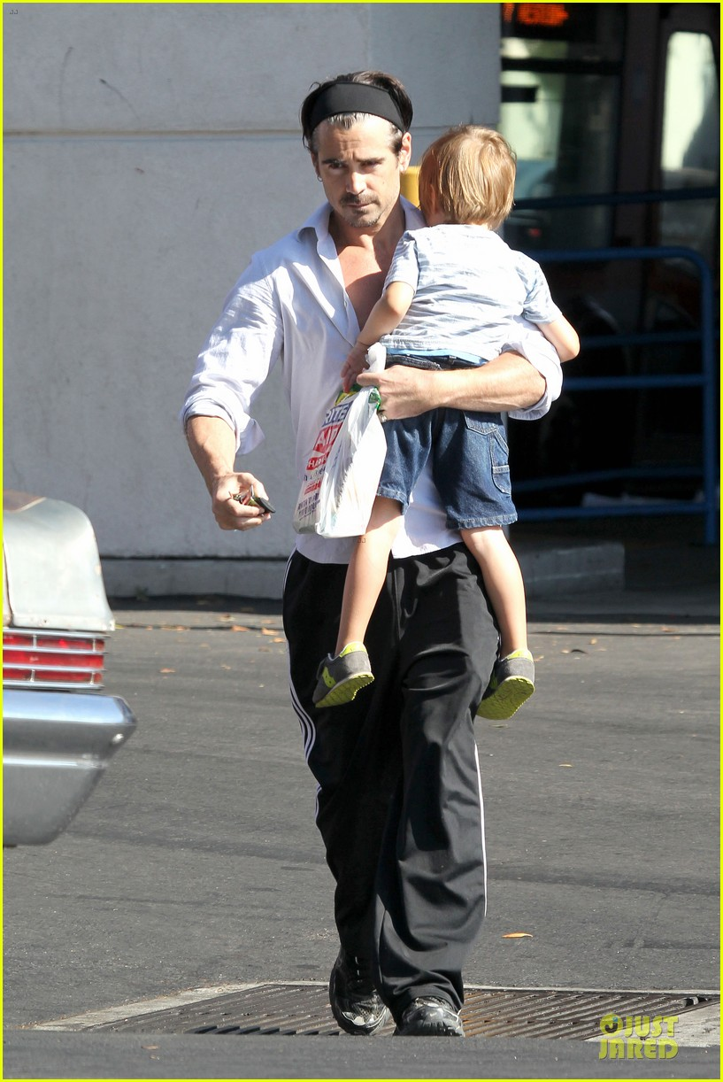 colin farrell rite aid snacks with henry 122891755