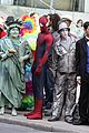 andrew garfield plays with kids on amazing spider man 2 set 24