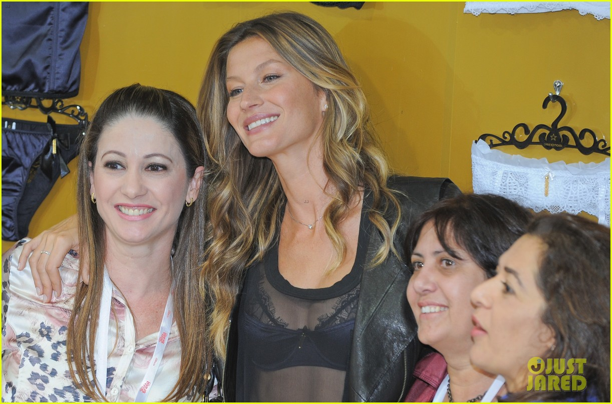 gisele bundchen launches her new lingerie line in brazil 142892473