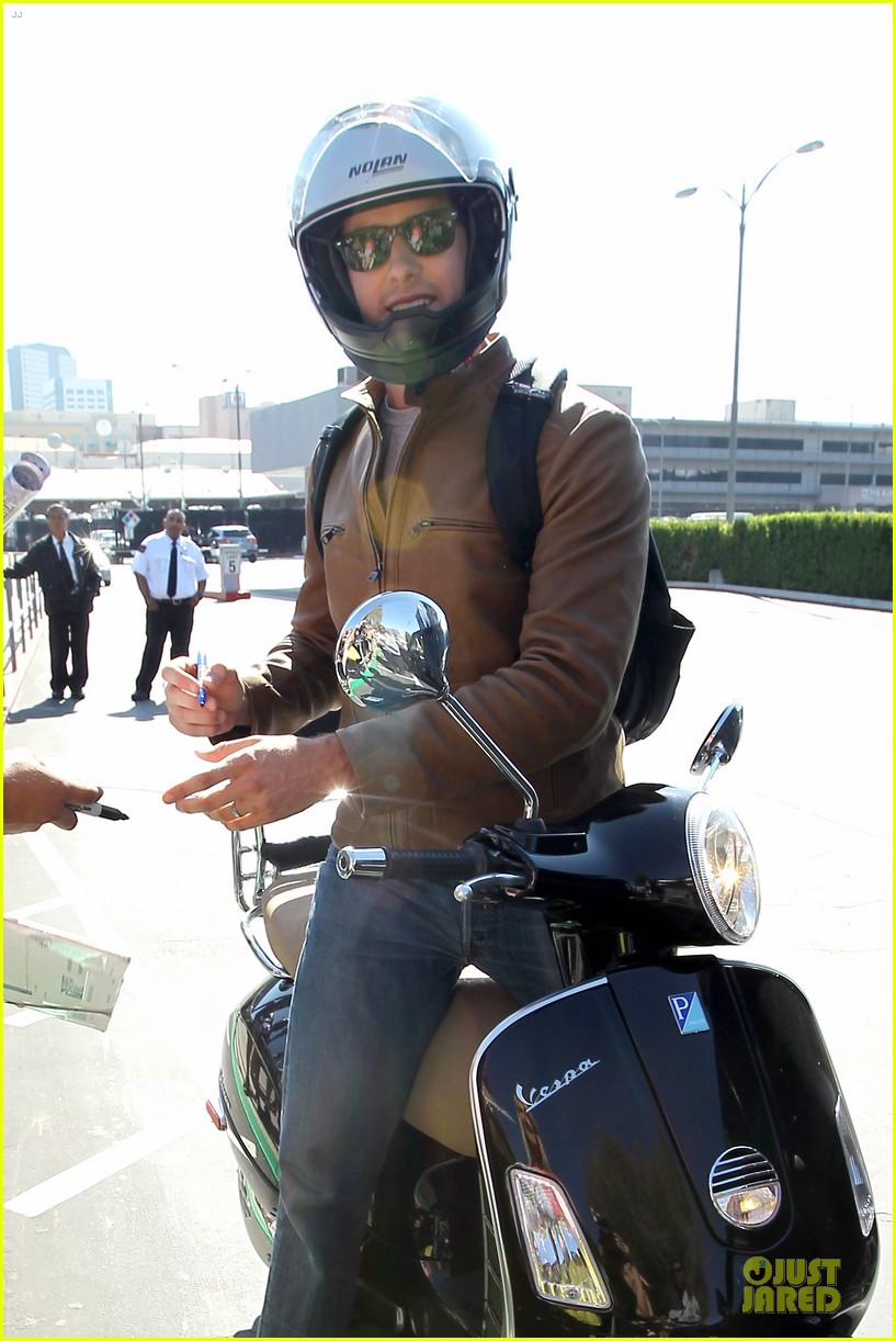armie hammer motorcycle rider after leno appearance 04
