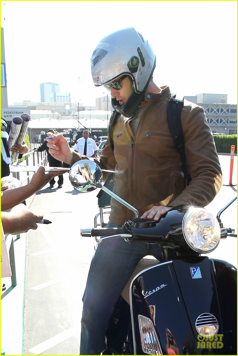 armie hammer motorcycle rider after leno appearance 11