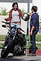 josh hutcherson claudia traisac kiss after motorcycle ride 20