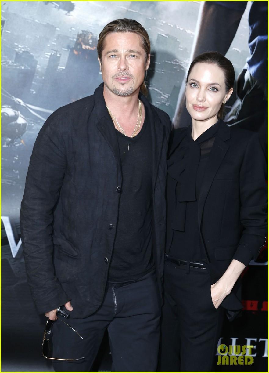 angelina jolie brad pitt world war z paris premiere 12