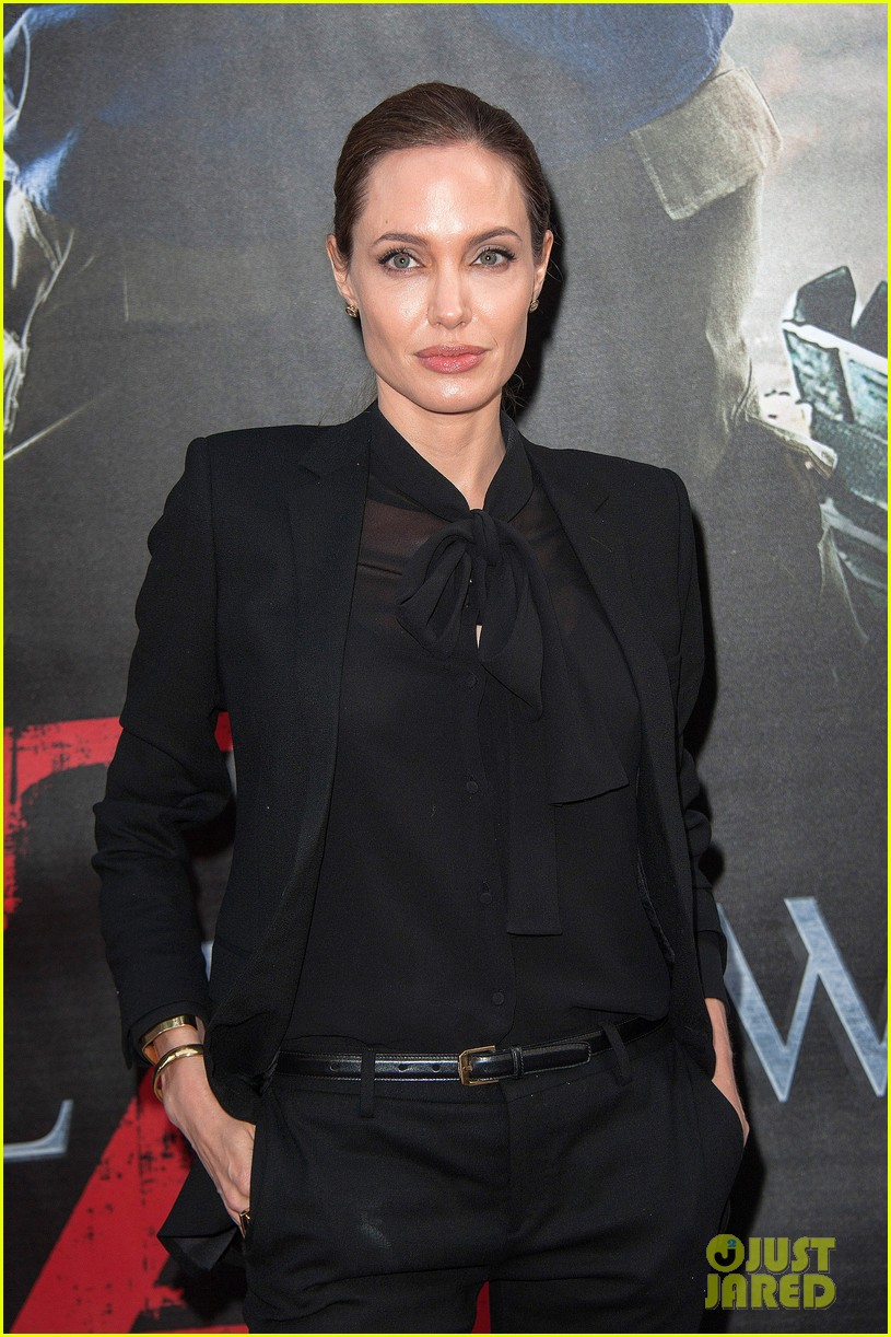 angelina jolie brad pitt world war z paris premiere 162883657