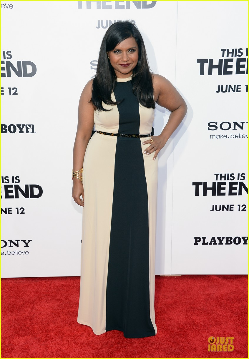 mindy kaling jessica shozr this is the end premiere 01