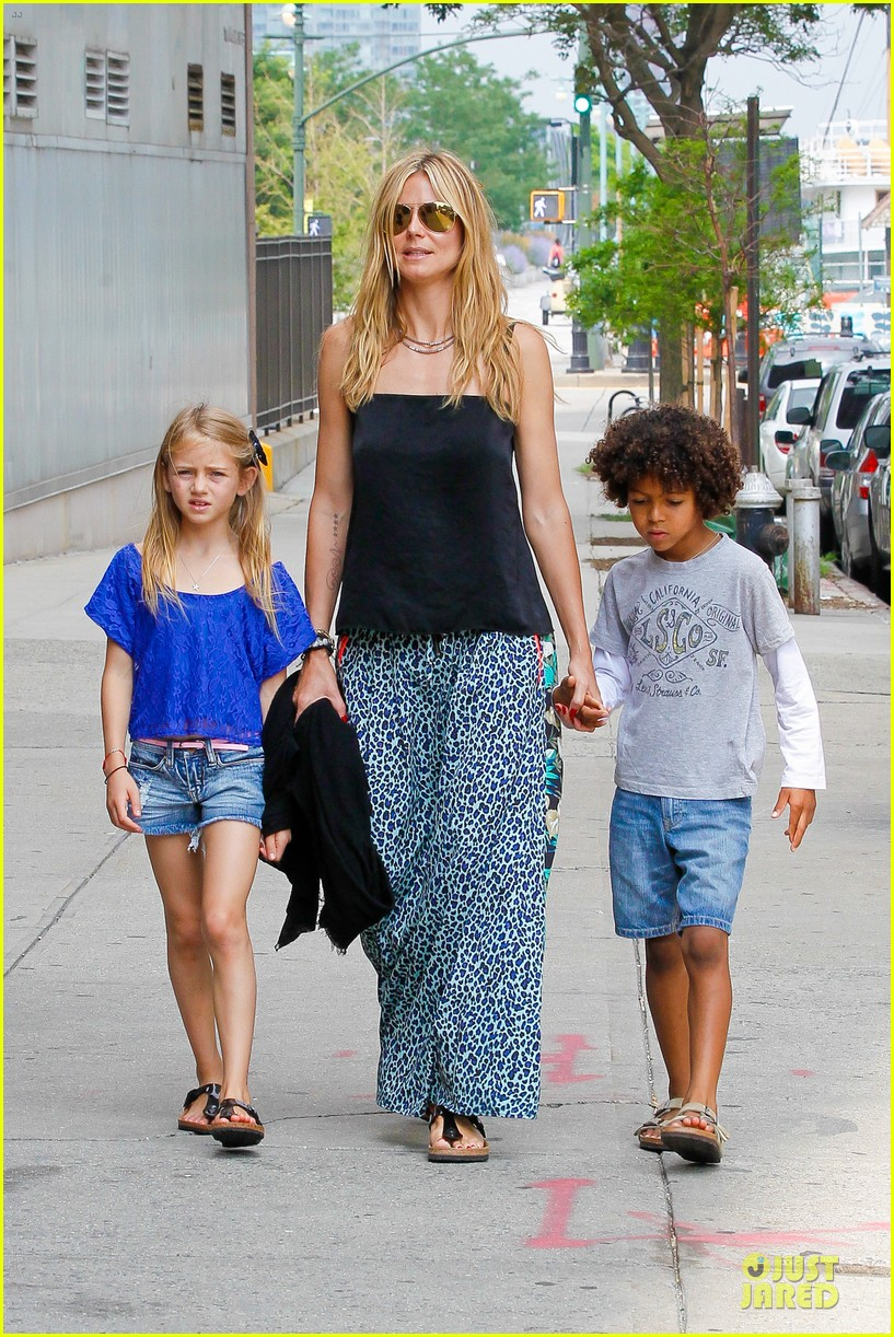 heidi klum i saved my kids hair for art projects 22