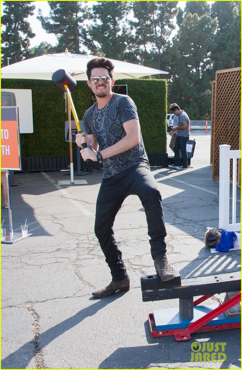 adam lambert hammer time at just jared summer kick off party presented by mcdonalds 022883180