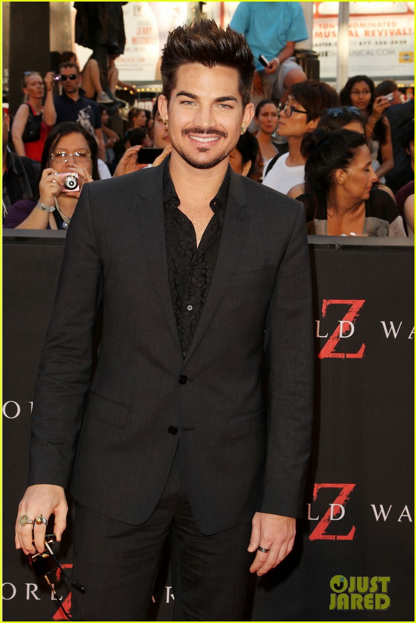 adam lambert world war z nyc premiere 082893334