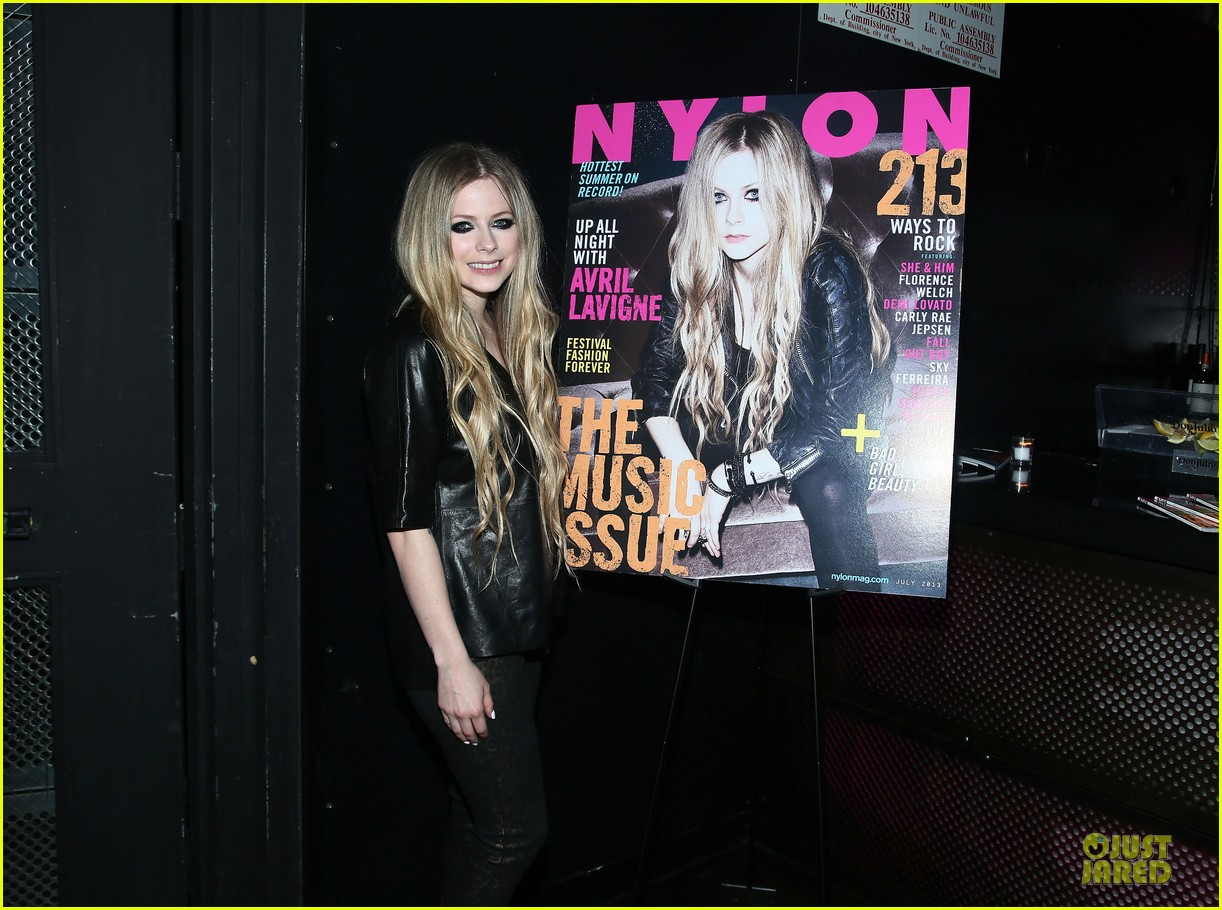 avril lavigne nylon magazine cover party 142889346