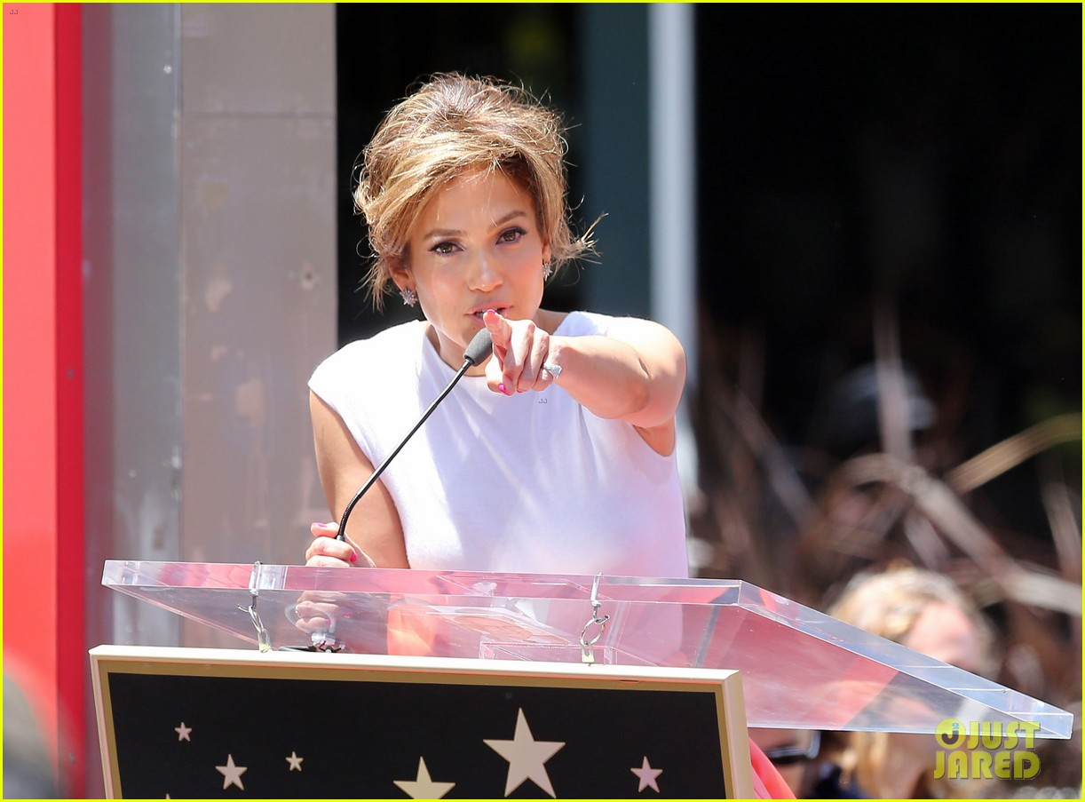 jennifer lopez receives star on hollywood walk of fame 322895215