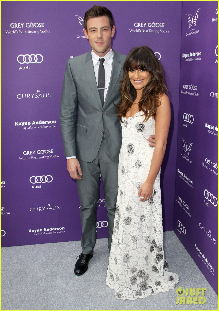 lea michele cory monteith chrysalis butterfly ball 01