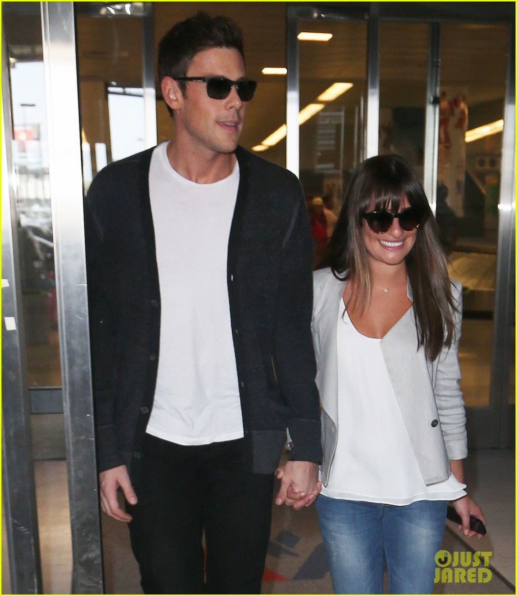 lea michele cory monteith so happy to be in new york 042893587