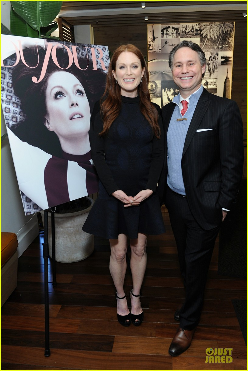 julianne moore dujour magazine summer issue cover party 192888660