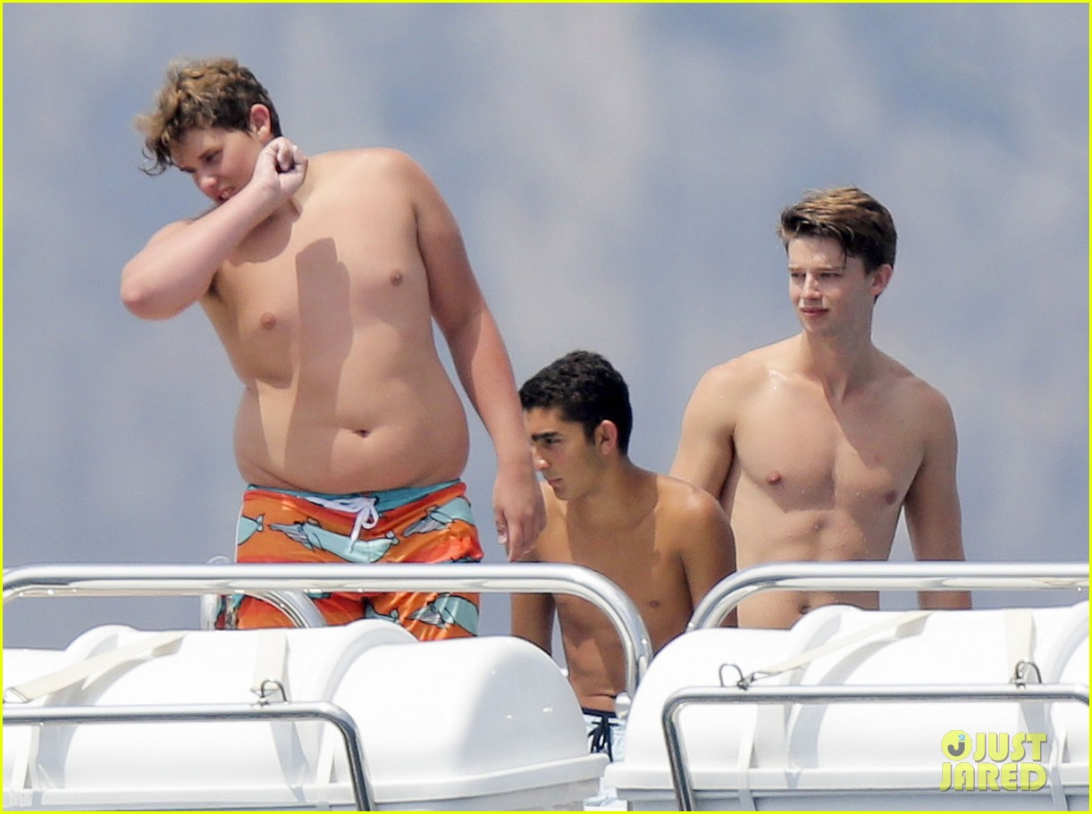 patrick schwarzenegger shirtless vacation continues 012891284