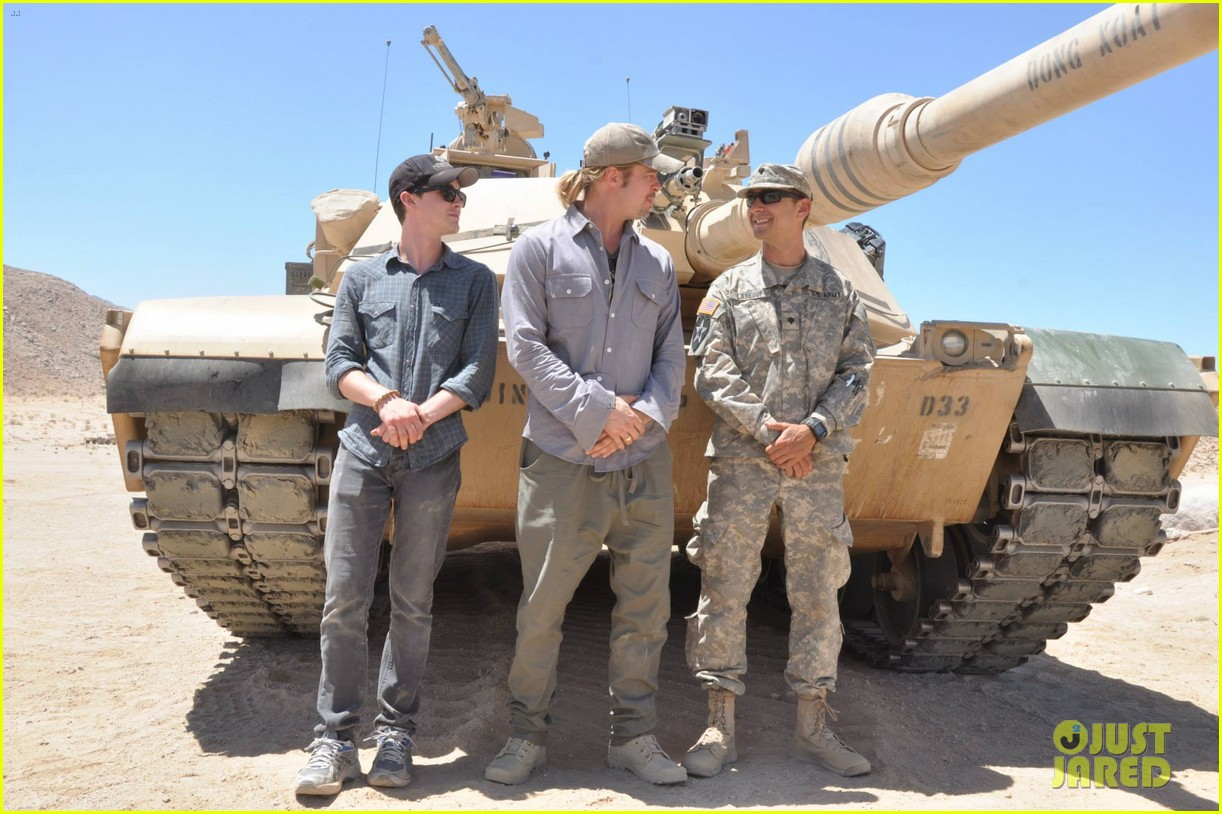 brad pitt shia labeouf visit fort irwin to prep for fury 01