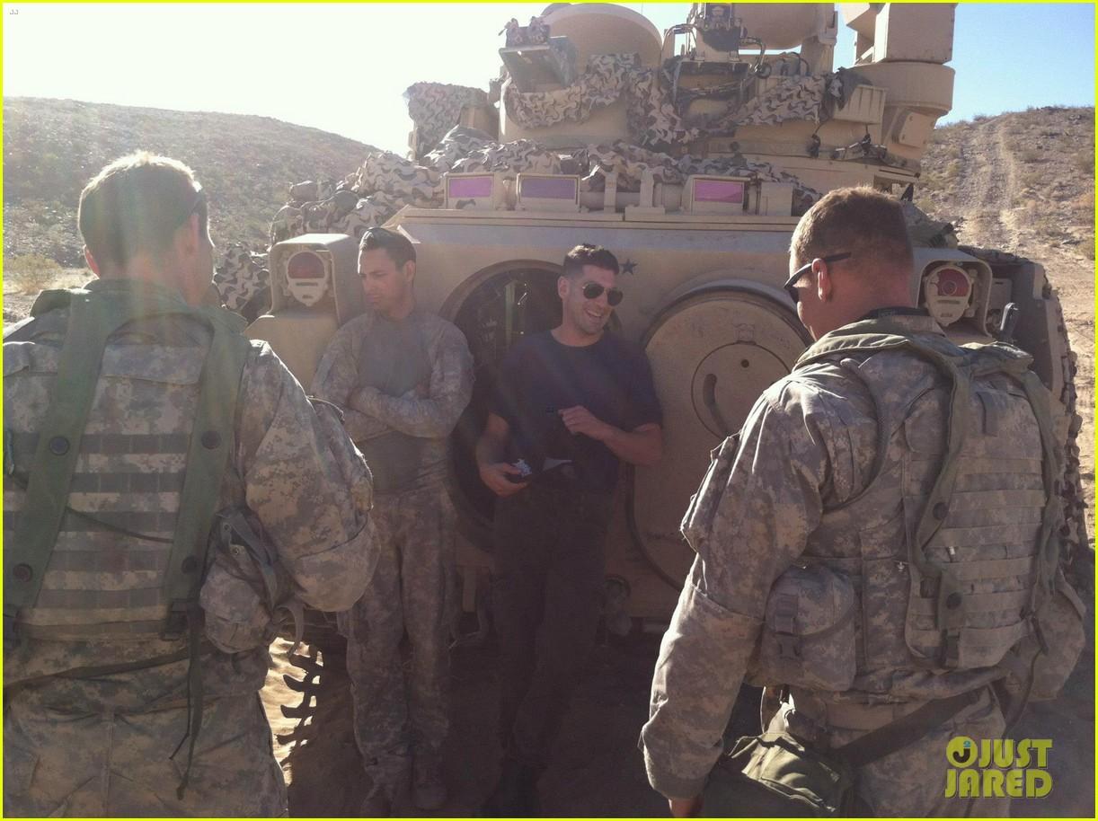 Full Sized Photo of brad pitt shia labeouf visit fort ... Brad Pitt
