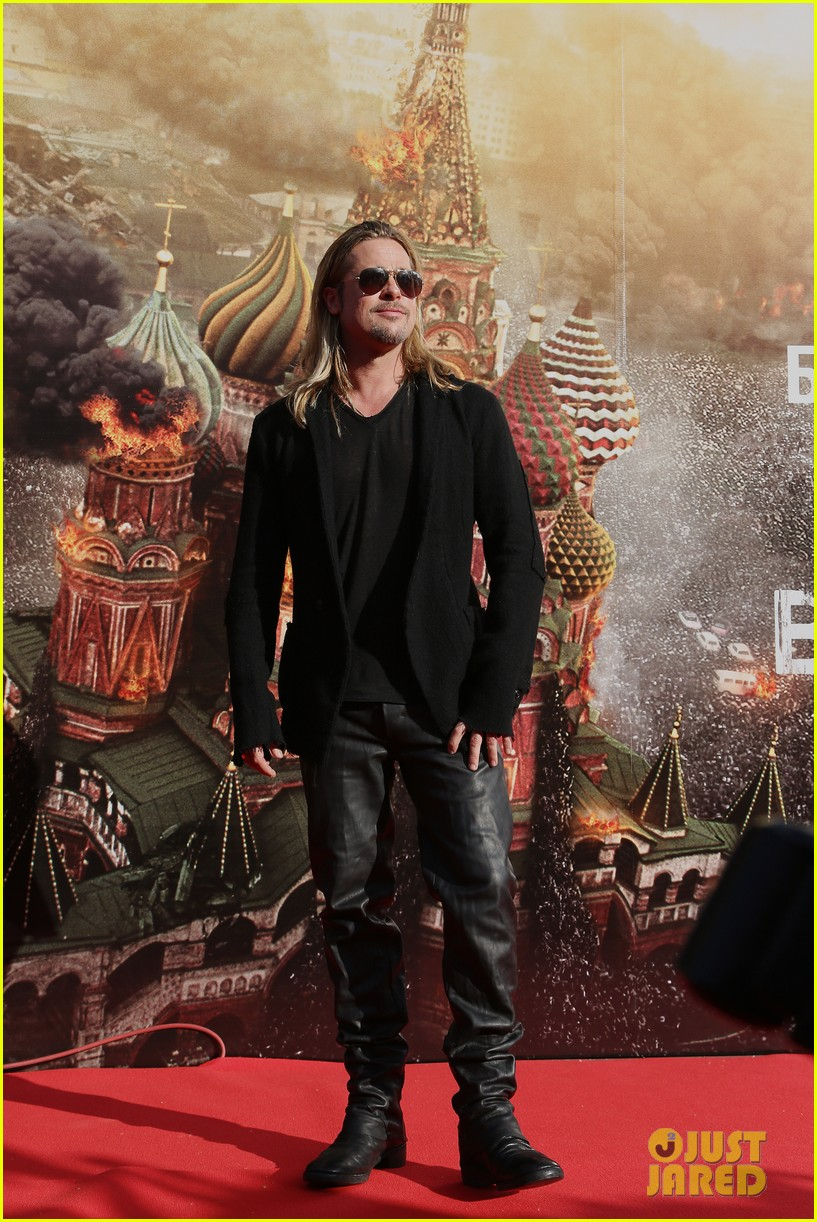 brad pitt world war z at moscow film festival 05