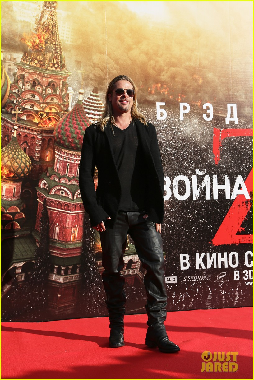 brad pitt world war z at moscow film festival 06