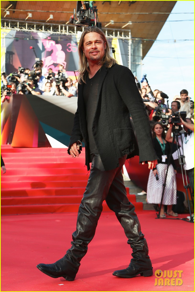 brad pitt world war z at moscow film festival 07
